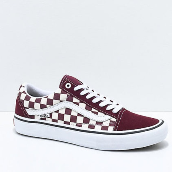 015e98e1e57f56 Vans Old Skool Pro Port Royal   White Checkered Sk